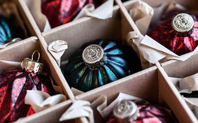ornaments in a special storage box