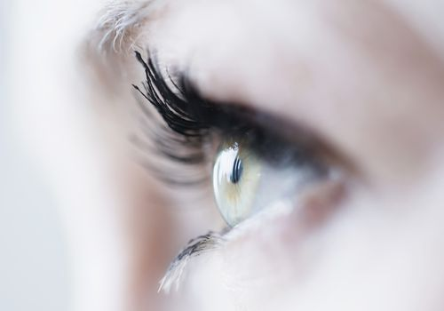 Close up of woman's eye