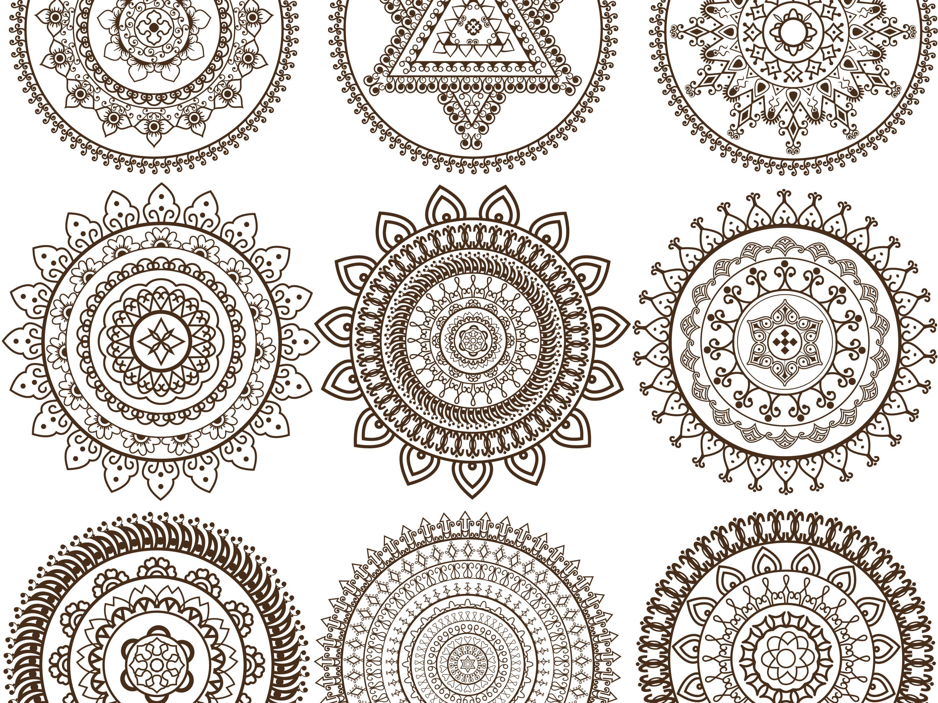 mandalas coloring Mehandi Mandala design 56a df78cf772a2ed27