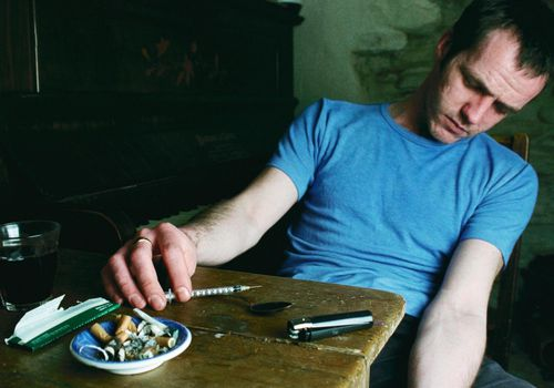 Addict Shooting Heroin