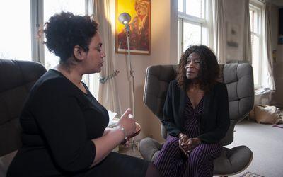 black senior woman in therapy