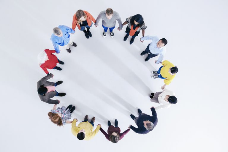 Group Holding Hands