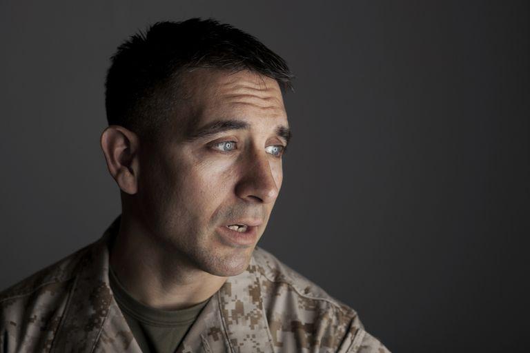upset man in military uniform