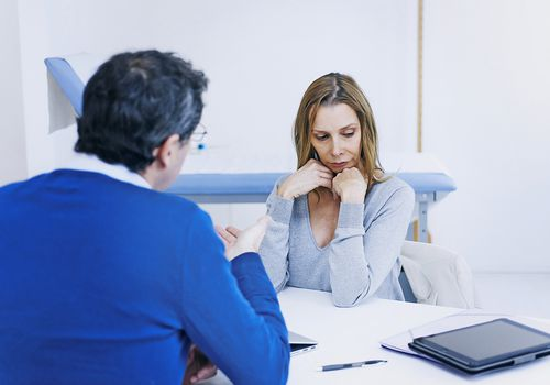 Woman in a consultation with a therapist