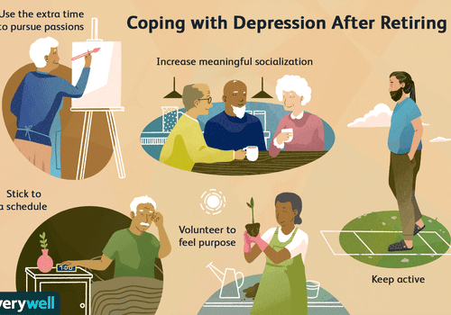 Coping with depression after retiring