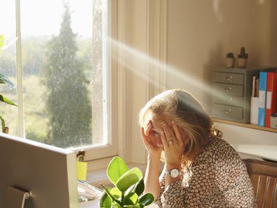 Woman having a panic attack