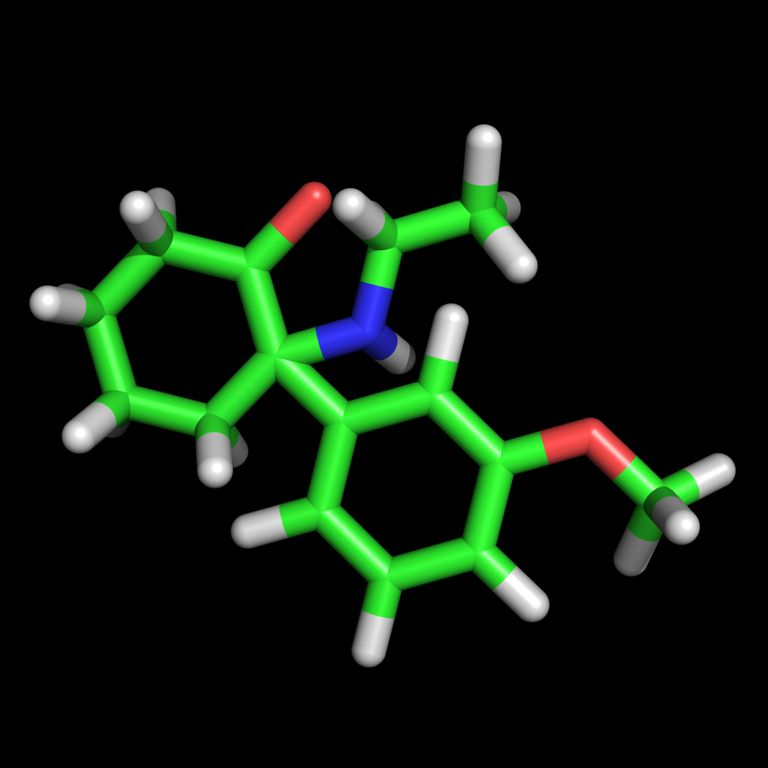Image of the methoxetamine (MXE) molecule