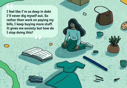 A reader asks how to manage debt and anxiety.