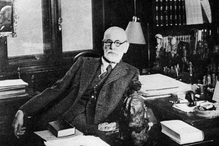 Freud Behind His Desk