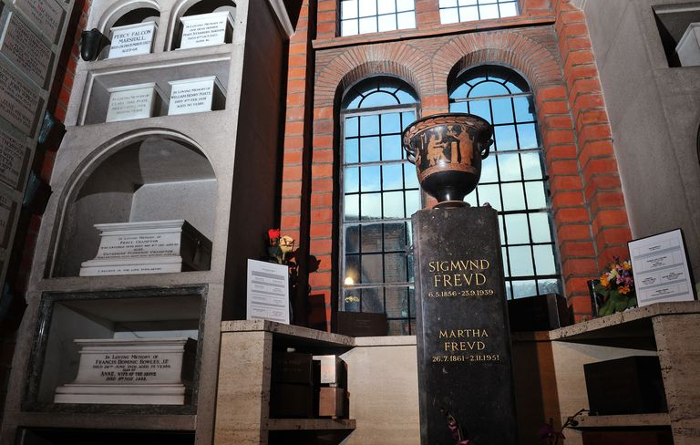 Urn containing Sigmund Freud and wife Martha's ashes