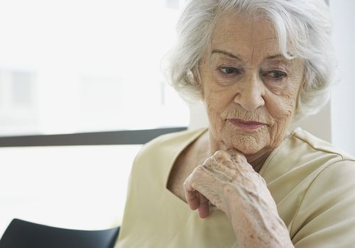Depressed older woman