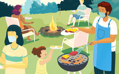 illustration of barbecue