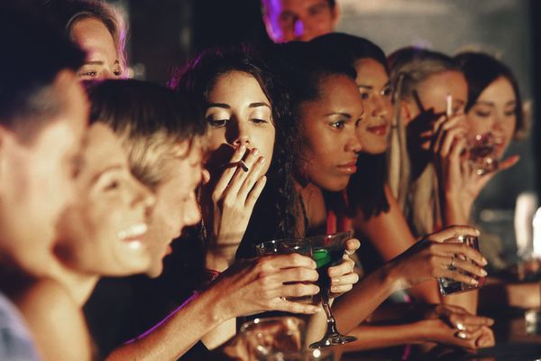 Social smoking at parties