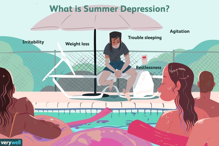 Summer depression illo