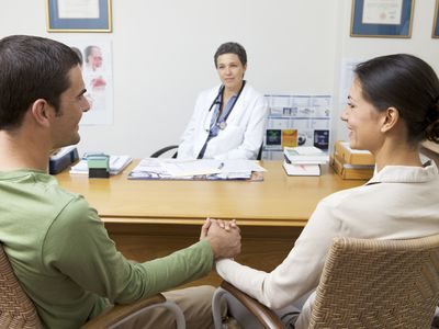 Couple at doctor