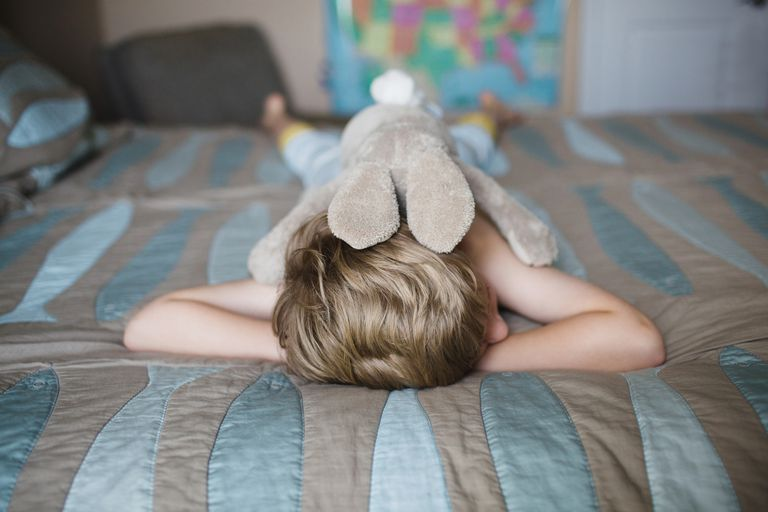 Young boy with generalized anxiety disorder