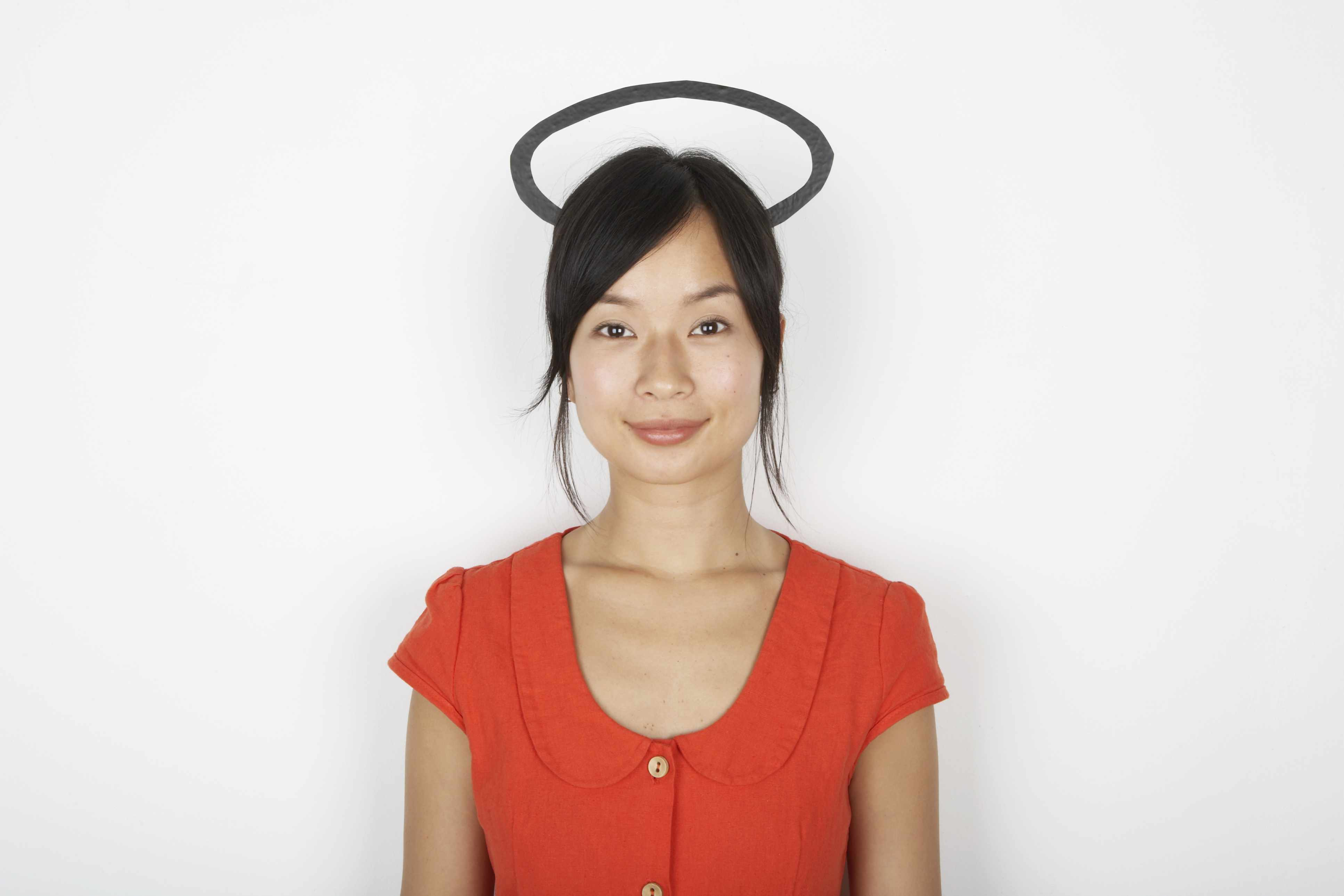 woman with halo