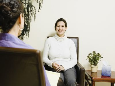 Hispanic woman at therapy session