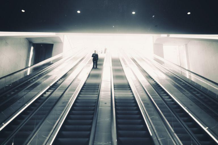 Up & down the escalator