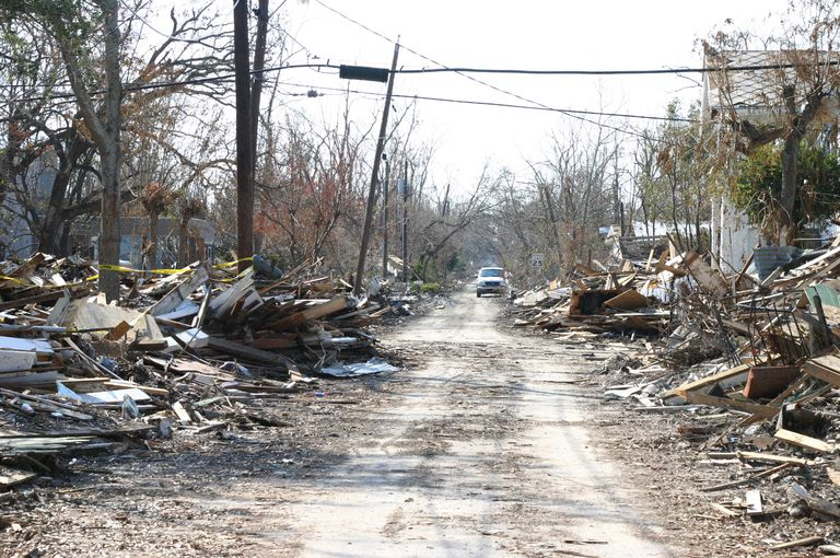 Street After Hurricane Katrina