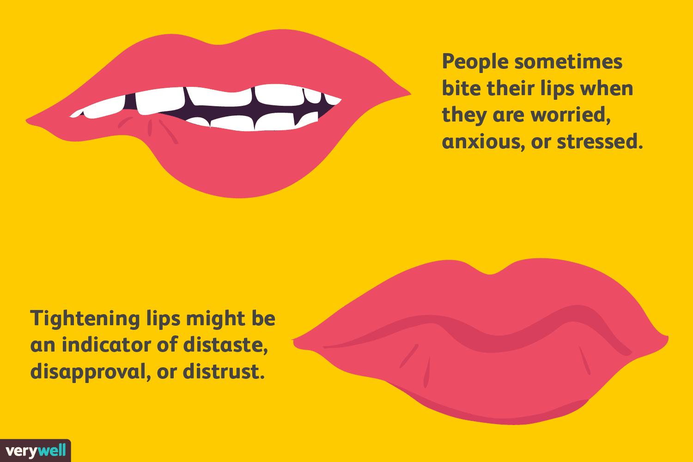 lip biting body language