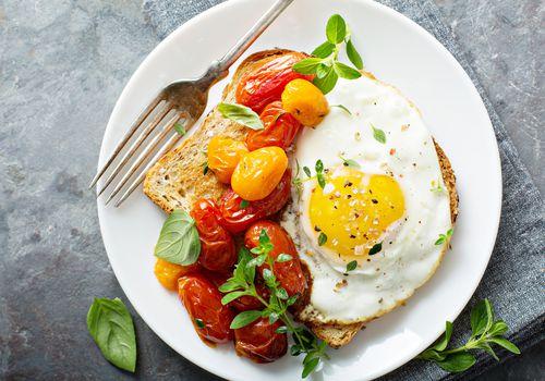 Fried egg on toast