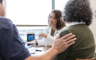 Older woman seeing doctor