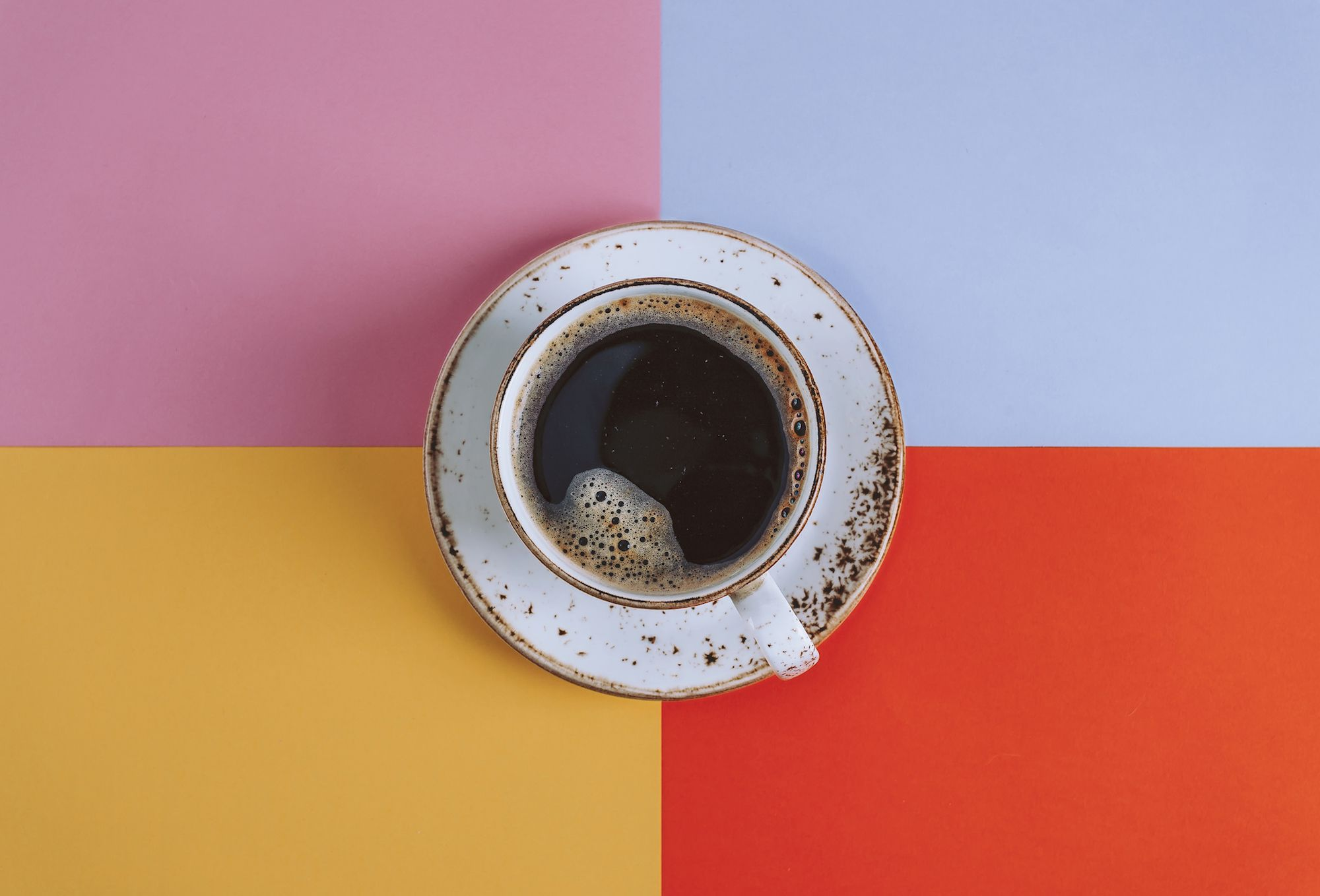 Cup of coffee on a saucer